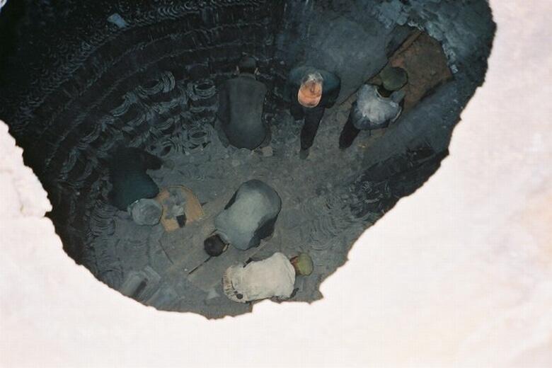 上から見る窯内部